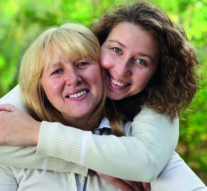 Mor och dotter med ileostomi